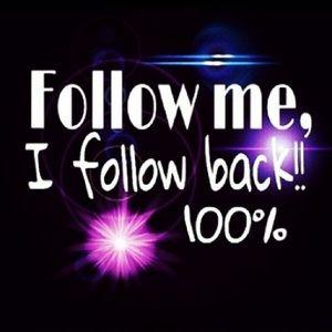 Follow Me I Follow Back 100%